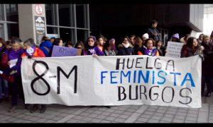 8M. huelga feminista. pancarta