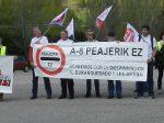 manifestacion por la gratuidad de las autopistas