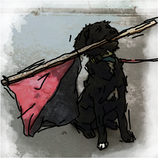Class War Doggo with flag