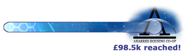 A thermometer graphic showing that we have reached our £98.5k target