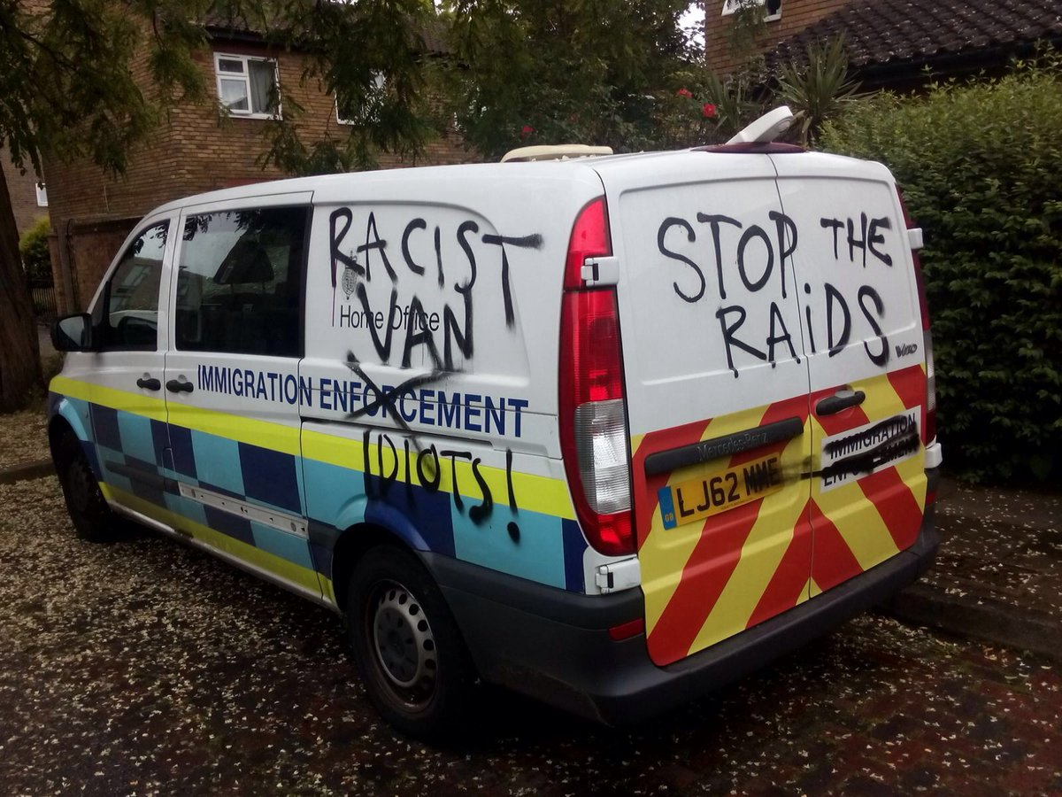 Superb Immigration Raid Chased Off On Deptford High St Racist Van Largest Home Design Picture Inspirations Pitcheantrous