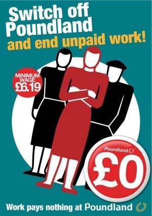 graphic criticising Poundland's breach of minimum wage