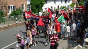 second photo of the Radical Workers' bloc on the Tolpuddle Martyrs festival parade