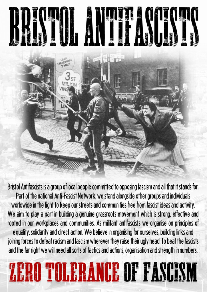 Bristol Antifascists leaflet - Front