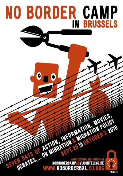 No Border Camp Poster