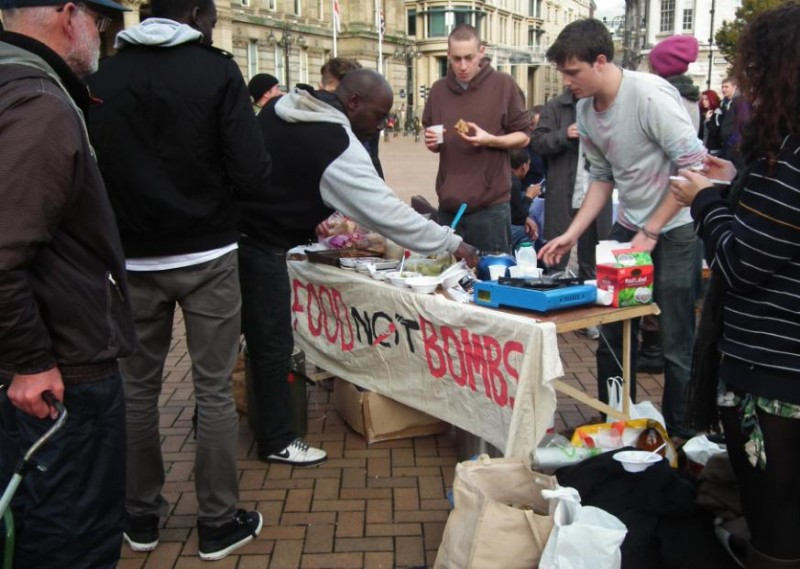 Birmingham Food Not bombs at Occupy Victoria Sq