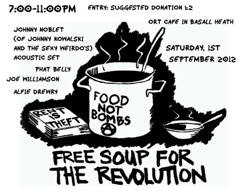 Free Soup for the Revolution - FnB benefit gig