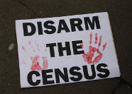 Disarm the Census placard
