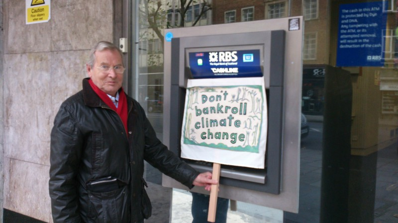 Outside RBS branch December 2013