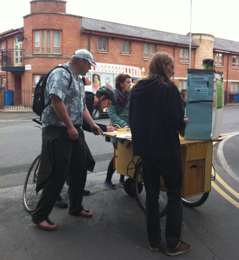 Out and about on the streets with the Evaluation Trolley