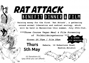 Rat Attack benefit dinner & film