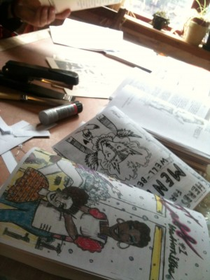 Zines getting collated