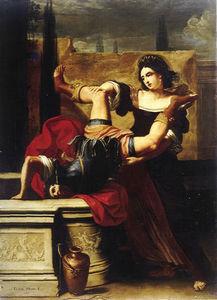 Elisabetta Sirani, Timoclée jetant le capitaine thrace dans le puits, 1659, Musée de Capodimonte, Naples.