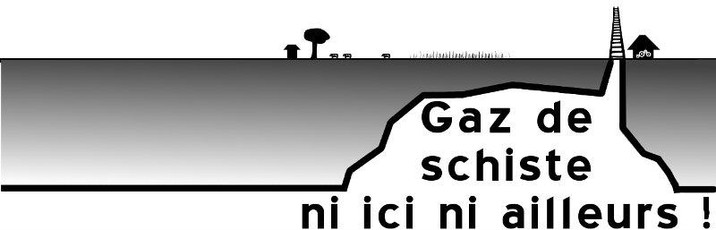 Bannière alternative contre gaz de schiste