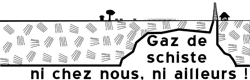 Logo anti gaz schiste avec hachures