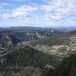 Ardèche et lointaines montagnes