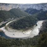 Méandre de l'Ardèche aux «Templiers»