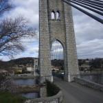 Le pont suspendu de Saint-Martin-d'Ardèche