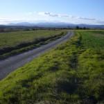 Route, plaine, montagnes