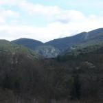La vallée de l'Ibie vue de loin
