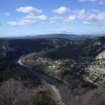 L'Ardèche et les lointaines montagnes