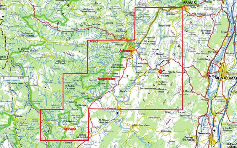 Carte permis Villeneuve-de-Berg, Ardèche