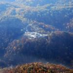 Site de forage sur un sommet de montagne, WV