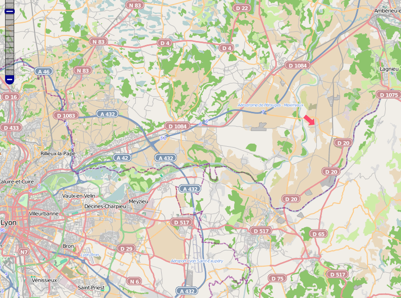 Carte de Blyes, OpenStreetMap