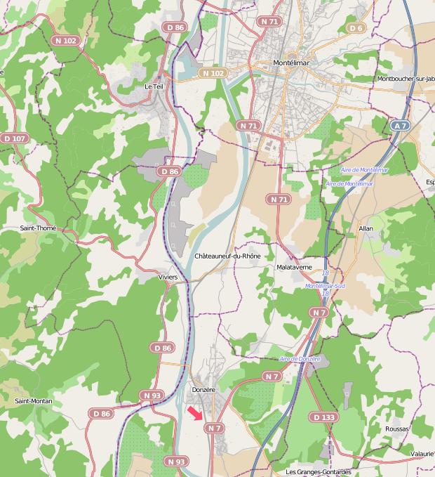 Carte Montélimar-Donzères