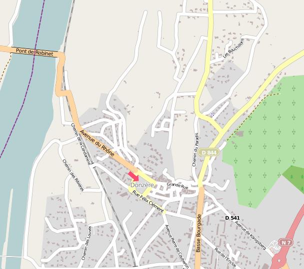 Carte de Donzère OpenStreetMap
