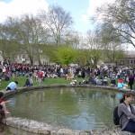 Bassin d'eau, jardin de Nant