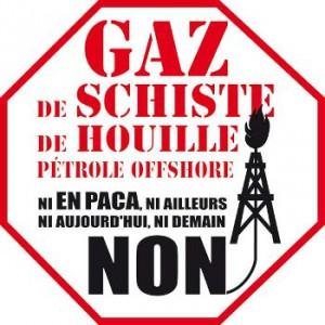 Logo Non au gaz de shiste en PACA, par Oly13