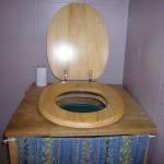 toilettes sèches, de face
