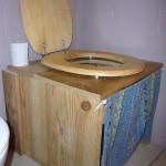 toilettes sèches, de côté
