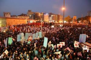Taksim square, Istanbul. October 4th, 19:30