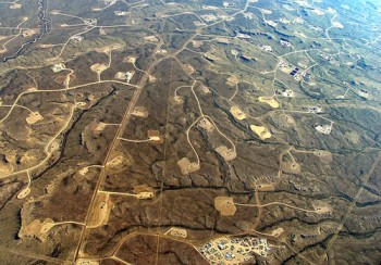 A landscape devastated by fracking