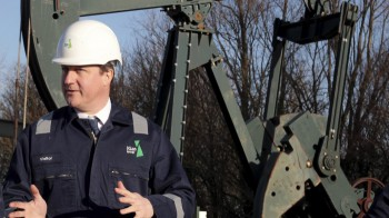 David Cameron getting behind the fracking industry