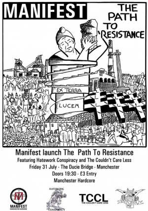 Manifest album launch flyer