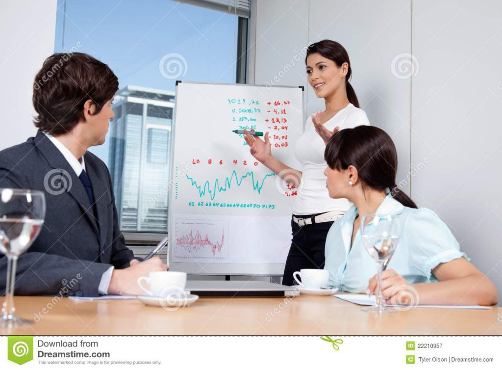 a business presentation