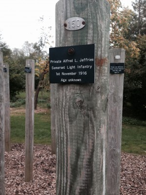 National memorial Arboretum Stake For Alfred Jefferies