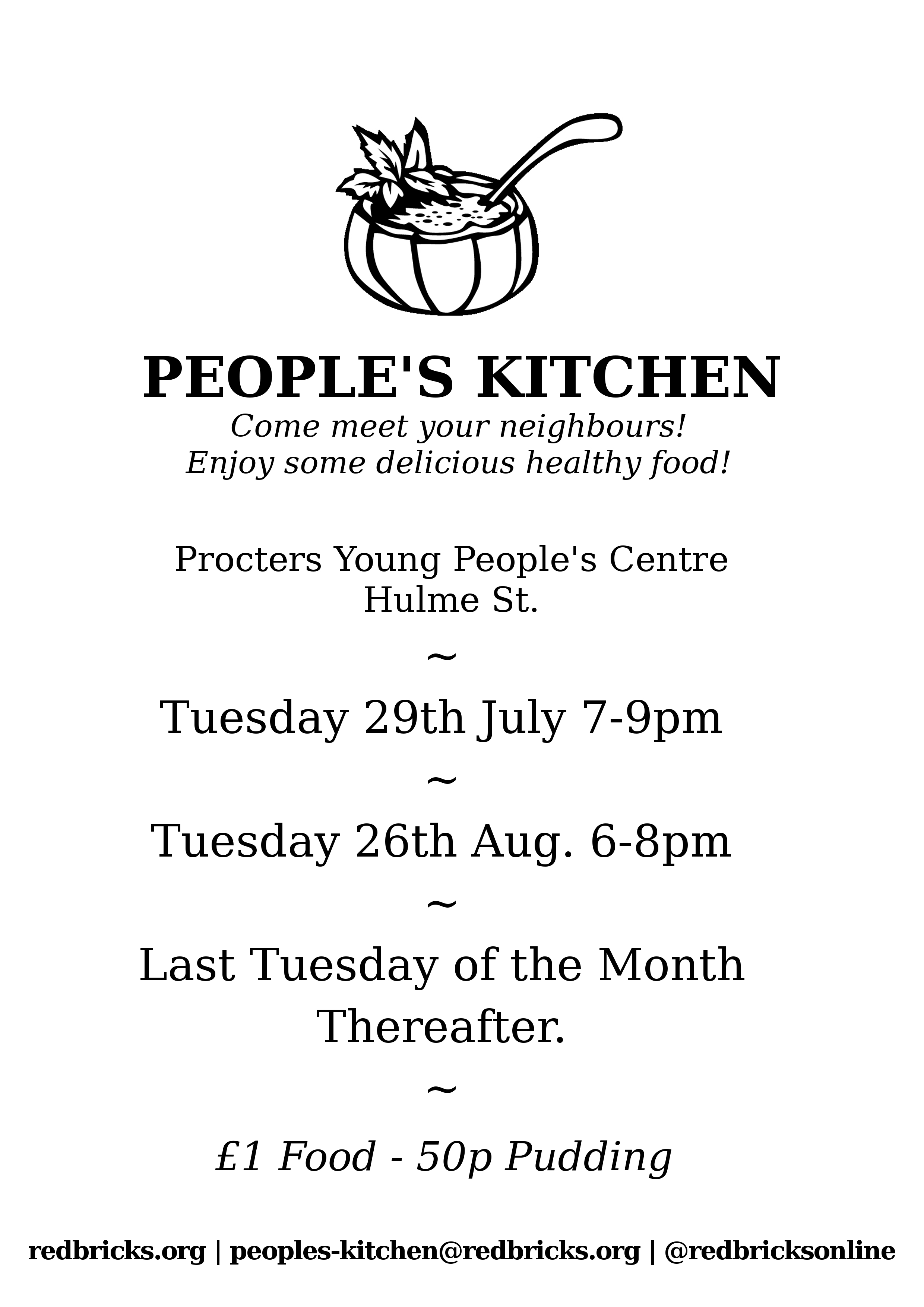 People\'s Kitchen update: August 26th, 7-9pm at TARA officeredbricks.org