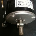 36V scooter motor which can also be used as a generator. Note hi-tech anti-vibration coupling