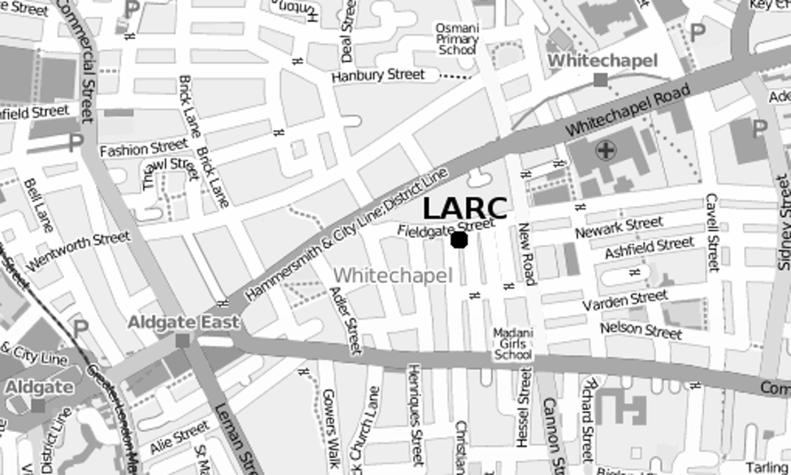 Map of Whitechapel
