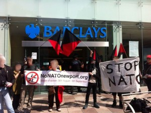 Anarchists and anti-militarists shut down Barclays