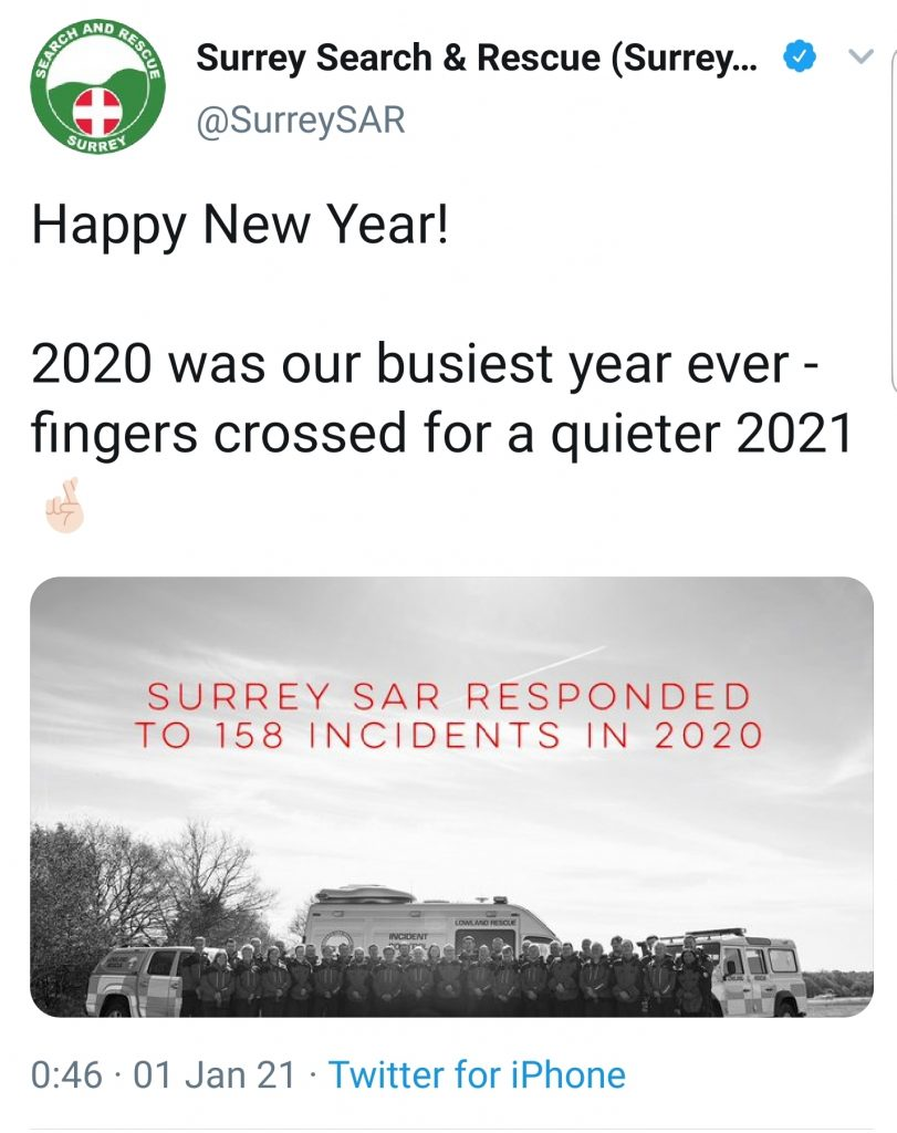 Surrey Search and Rescue callout lies