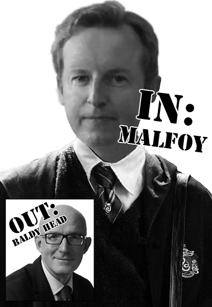 Liam Nevin as Malfoy plus Stephen McNamara