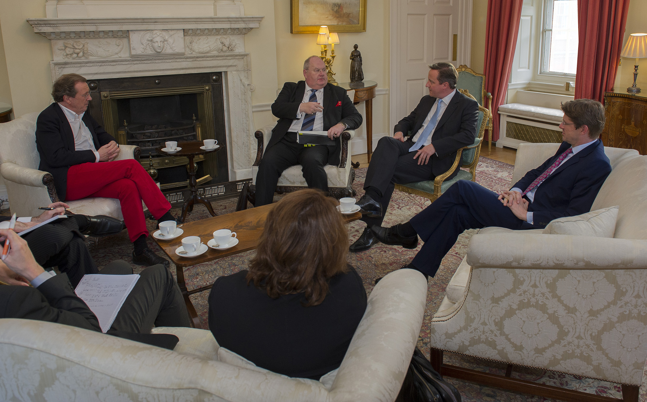 l-r: George Ferguson, Eric Pickles, David Cameron, Greg Clark and 'Lady Gaga' Yates (back to the picture)