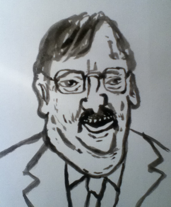 Councillor Gary Hopkins, ink and brush, 2013, Jeff from Bedminster