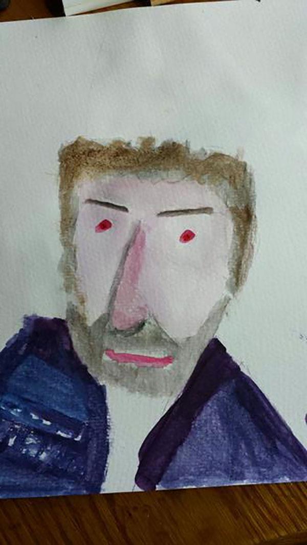 Councillor Sir Augustus Hoyty-Toyty, watercolours, 2013, @guriben