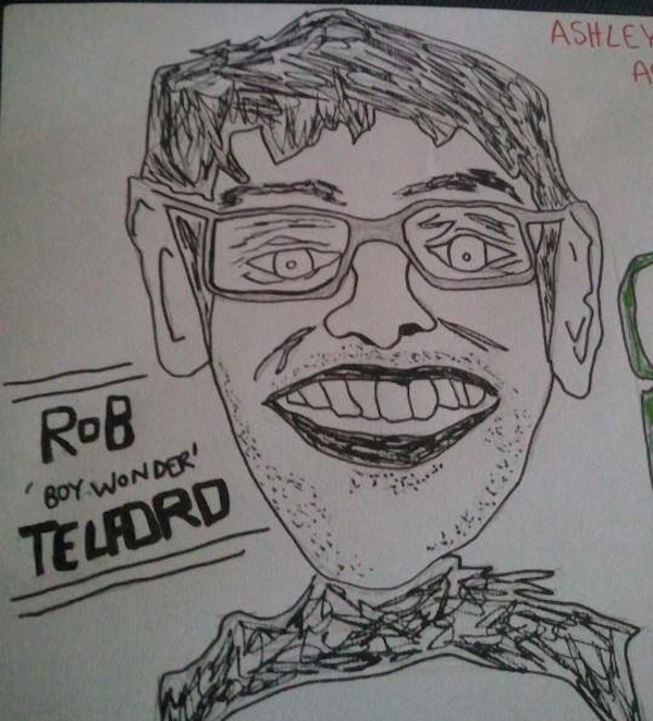 Councillor Rob Telford, ink & pencil, 2013, Paul Saville